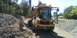 Alpha Civil Pty Ltd Hi Rail Dump Truck