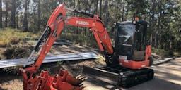 All Across Earthworks Pty Ltd Track Mounted Excavator