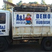 Logo of A & J Demolition & Rubbish Removal