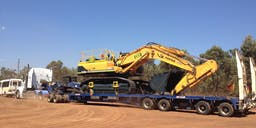 B and T Earthmoving Track Mounted Excavator