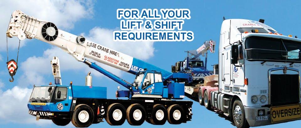 Lee Crane Hire machinery for hire across Australia