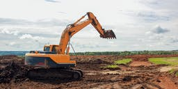 Brown Contractors Track Mounted Excavator