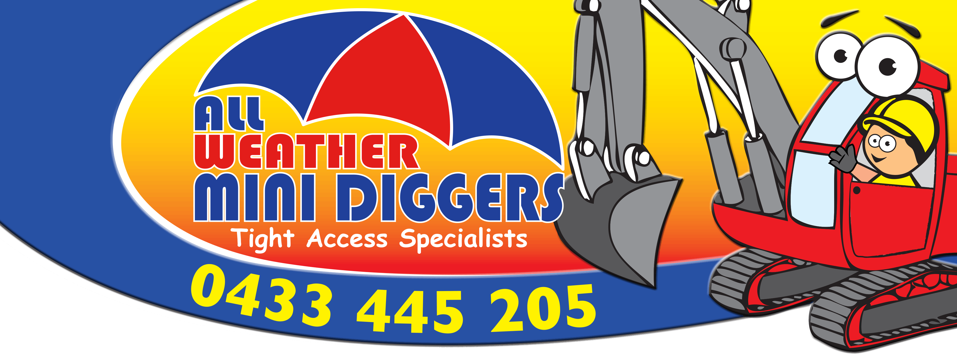 All weather mini diggers
