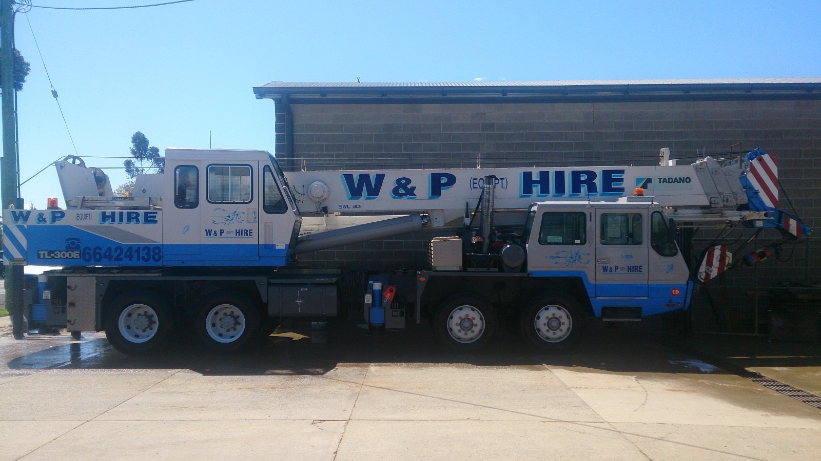 20t - 50t SWL Cranes for hire - Wicks and Parker Cranes