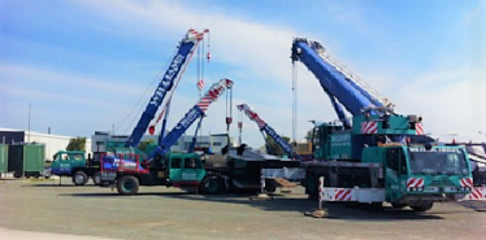 Williams Cranes & Rigging PTY LTD machinery for hire across