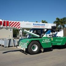 Logo of LA & LR Ramsamy Crane Hire Pty Ltd