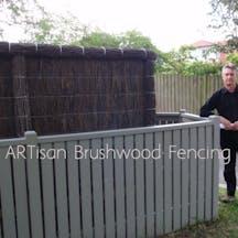 Logo of ARTisan Brushwood Fencing