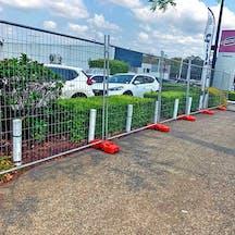 Logo of DSA Temporary Fence