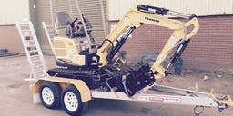 Brookes Building Group Track Mounted Excavator