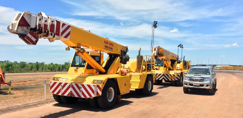 21t - 50t SWL Cranes for hire - Crane Hotline