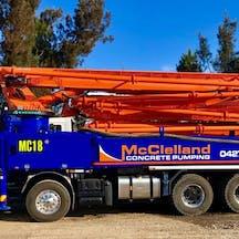 Logo of McClelland Concrete Pumping
