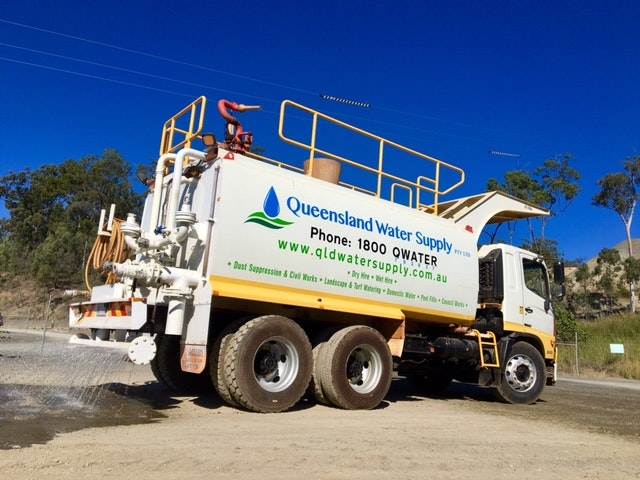 9000 - 16000L Water Cart for hire - Queensland Water Supply PTY LTD