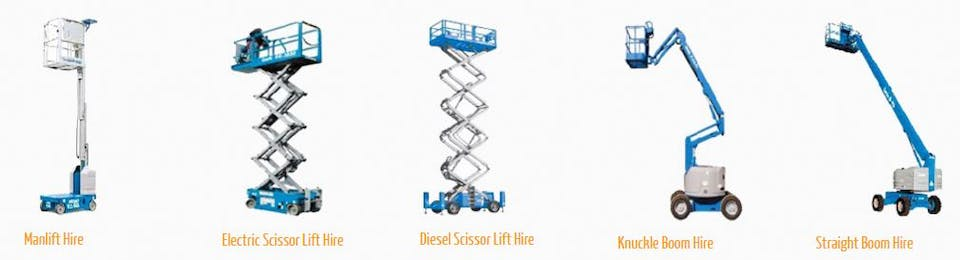 Brisbane Scissor Lift Hire machinery for hire across