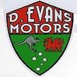 D Evans Motors logo