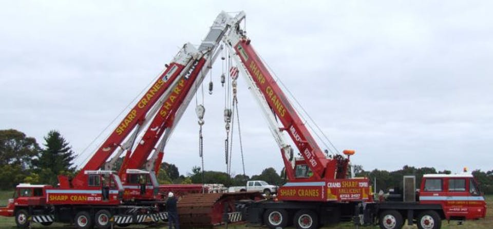 Sharp Cranes machinery for hire across Australia