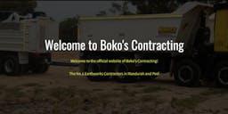 Boko's Contracting banner