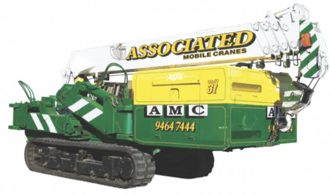 Associated Mobile Cranes Pty Ltd machinery for hire in