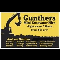 Gunthers Mini Excavator Hire