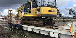 A Grade Contracting  Track Mounted Excavator
