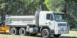 CK's Milling and Earthworks banner